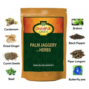 Dhampur Green Palm Jaggery with Herbs 150gm