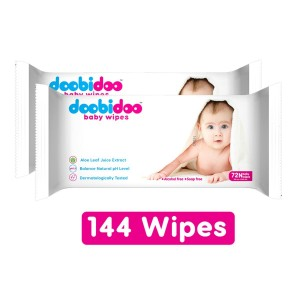 Doobidoo Baby Wipes 72 N pack of 2