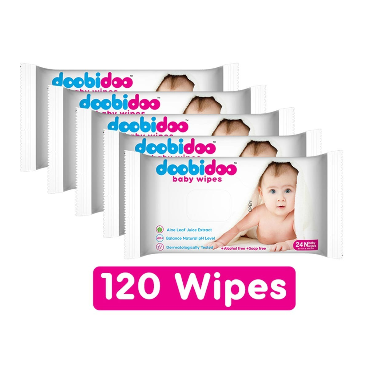 Doobidoo Baby Wipes 24-N (Combo of 5)