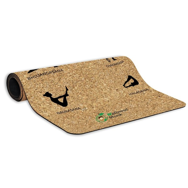 Wellnessmonk Cork Yoga Mat