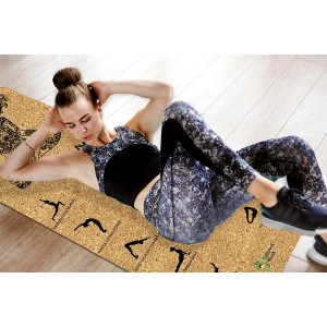 Wellnessmonk Eco Friendly Cork Yoga Mat