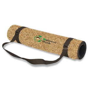 Wellnessmonk Cork Yoga Mat roll
