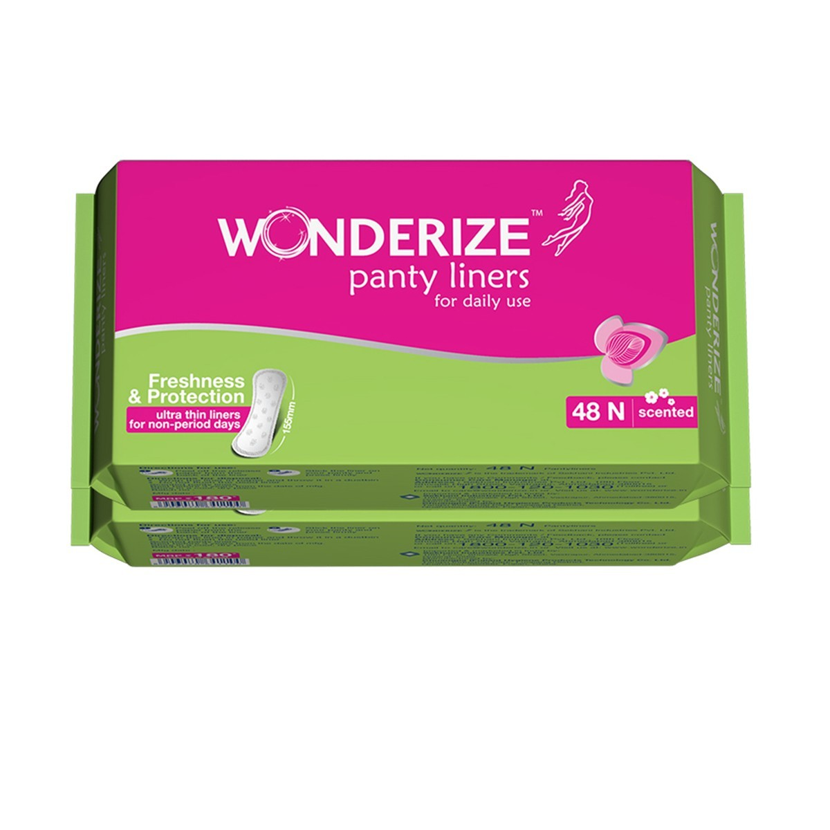 Wonderize Panty Liners 48n (Combo of 2)