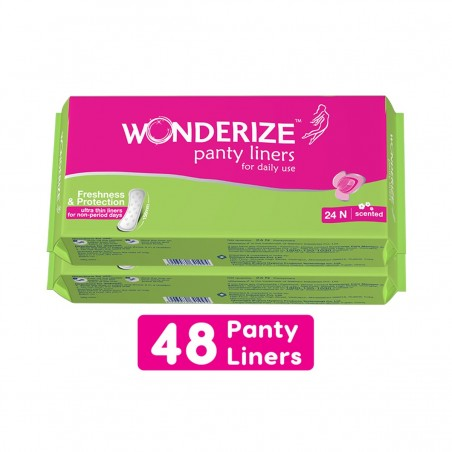 Wonderize Panty Liners 24n combo of 2