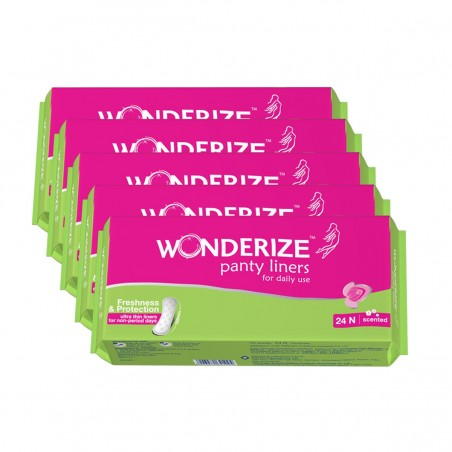 Wonderize Panty Liners 24n combo of 5