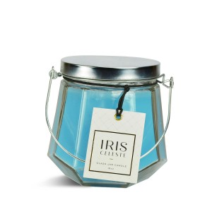Iris Celeste 16oz Candle Jar with Metal Lid