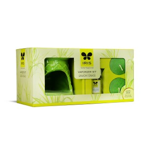 Iris Ceramic Fragrance Vaporizer-Green front