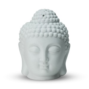 Iris Buddha Head Candle Burner L&F white