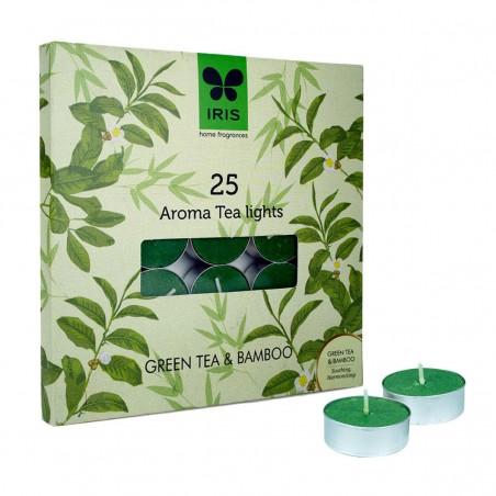 Iris Aroma Tea Lights Green Tea & Bamboo