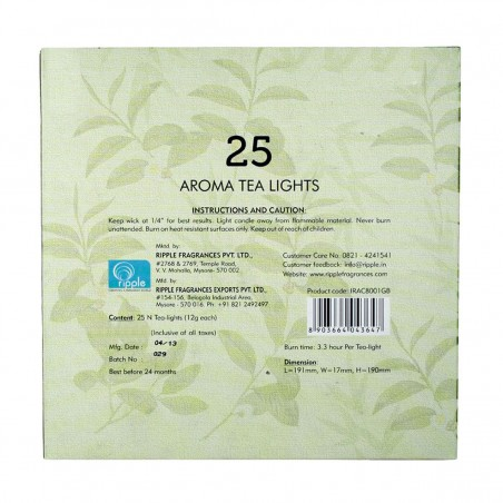 Iris Aroma Tea Lights Green Tea & Bamboo Back