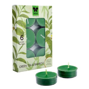 Iris Aroma Tea Light (Acrylic) Green Tea & Bamboo