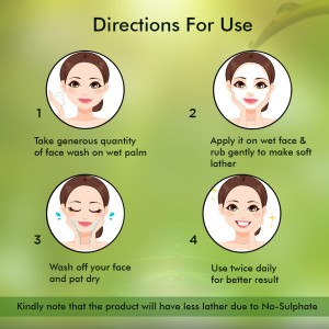 Nutrispa Green Heritage Age Defying Face Wash Direction For Use
