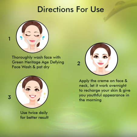 Nutrispa Green Heritage Night Recharge Cream Direction For Use