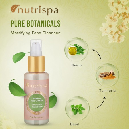 Nutrispa Pure Botanicals Mattifying Face Cleanser ingredients