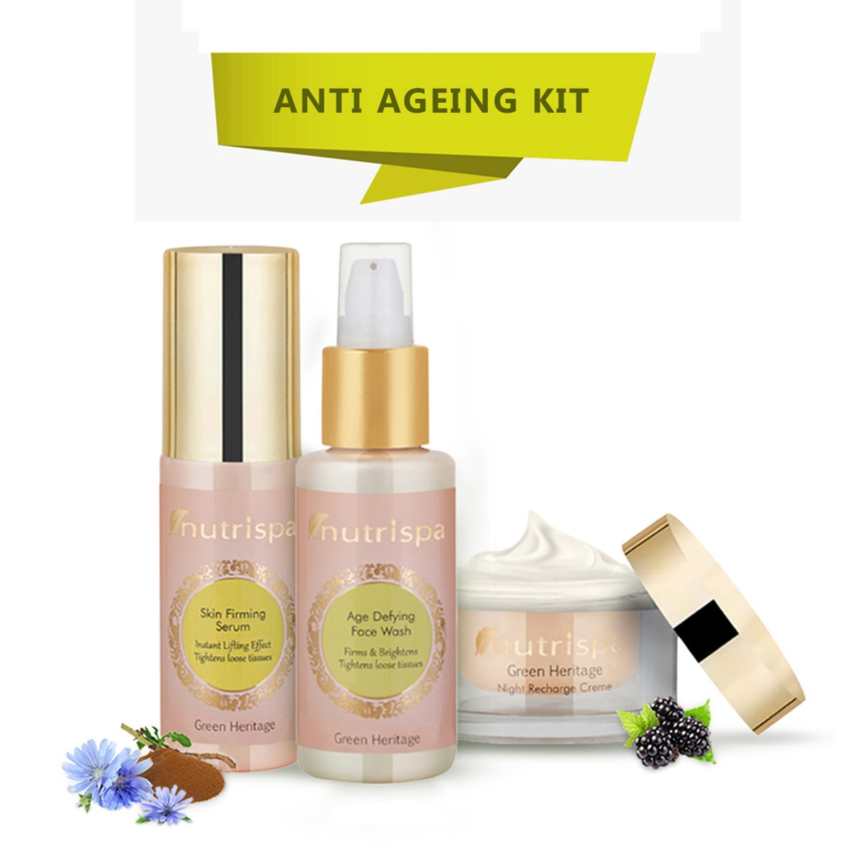 Nutrispa Green Heritage - Anti Ageing Skin Care Kit