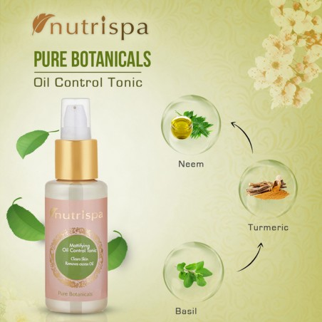 Nutrispa Pure Botanicals Mattifying Oil Control Tonic ingredients