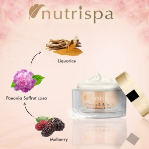 Nutrispa Liquorice and Mulberry Skin Whitening Cream ingredients