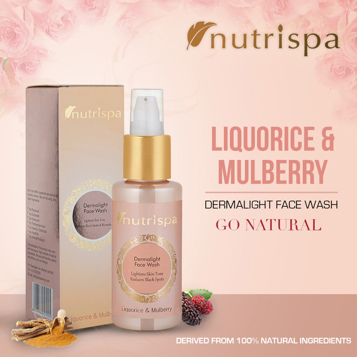 Nutrispa Liquorice and Mulberry Derma Light Face Wash