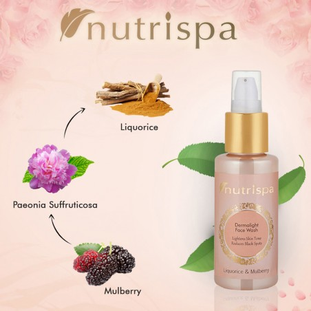 Nutrispa Liquorice and Mulberry Derma Light Face Wash ingredients