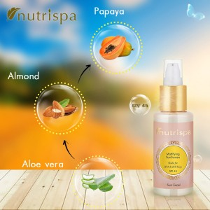 Nutrispa Sun Excel Mattifying Sun Screen (SPF 45) ingredients