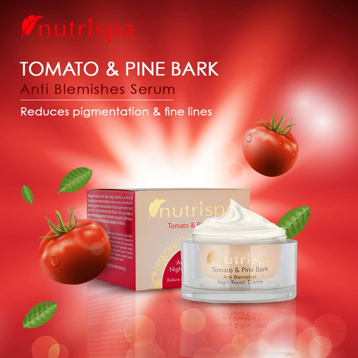 Nutrispa Tomato And Pine Bark Anti Blemishes Night Repair Cream