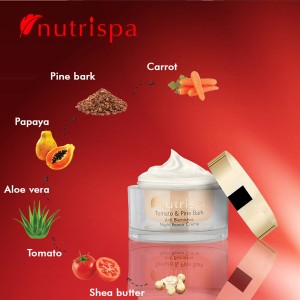 Nutrispa Tomato And Pine Bark Anti Blemishes Night Repair Cream ingredients