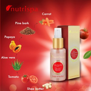 Nutrispa Tomato And Pine Bark Face Cleansing Foam ingredients