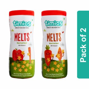 Timios Melts Mix Flavours (Apple & Cinnamon And Carrot & Cumin) - Pack of 2
