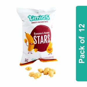 Timios Stars (Banana & Honey Kids Snacks)- Pack of 12