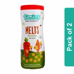 Timios Melts (Carrot & Cumin Whole Grain Snacks)- Pack of 2