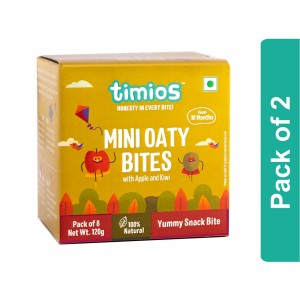 Timios Mini Oaty Bites (Apple & Kiwi)- Pack of 2