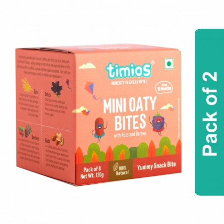 Timios Mini Oaty Bites (Nuts & Berries)