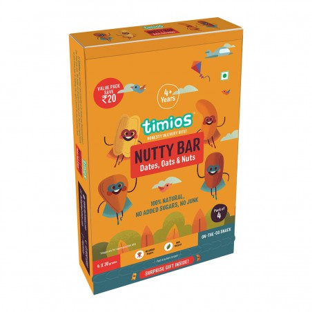 Timios Energy Bar Mix Flavours(Nutty Bar)