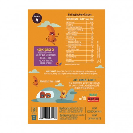 Timios Energy Bar Mix Flavours(Nutty Bar) back