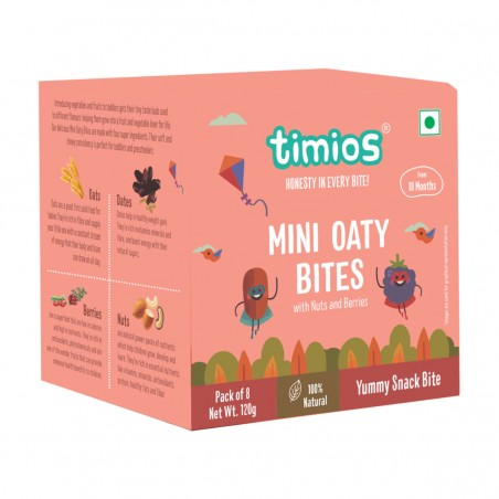 Timios Mini Oaty Bites Mix Flavours(Nuts & Berries)