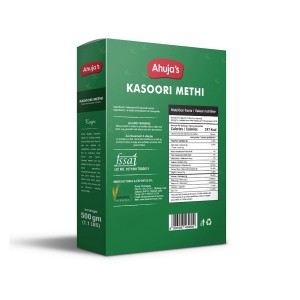 Ahuja Kasoori Methi 500gm back