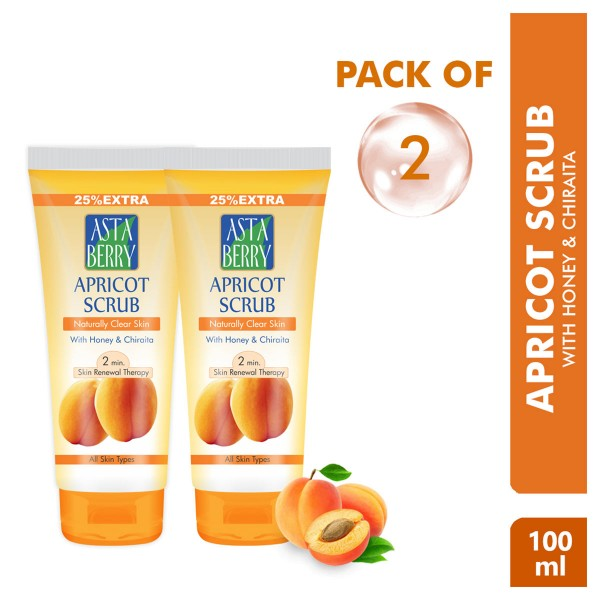 Astaberry Apricot Scrub 100ml pack of 2