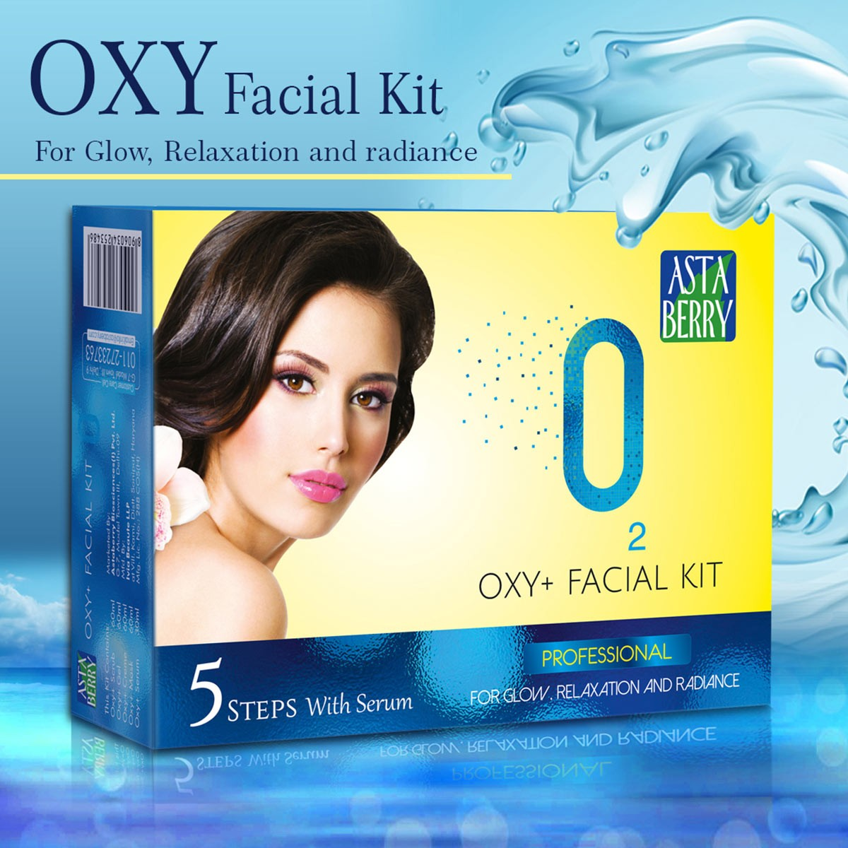 Astaberry Oxy Facial Kit Medium