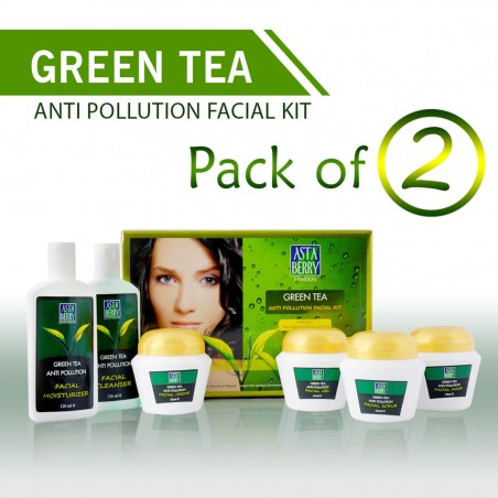 Astaberry Green Tea Anti Pollution Facial Kit (Pack of 2)