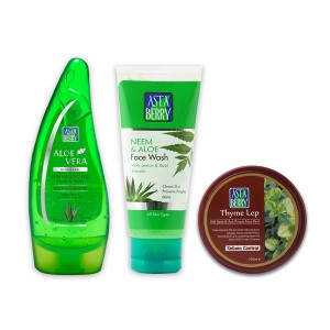 Astaberry Thyme Lep (100 ml), Aleovera Gel 100ml, Face Wash Neem 100ml