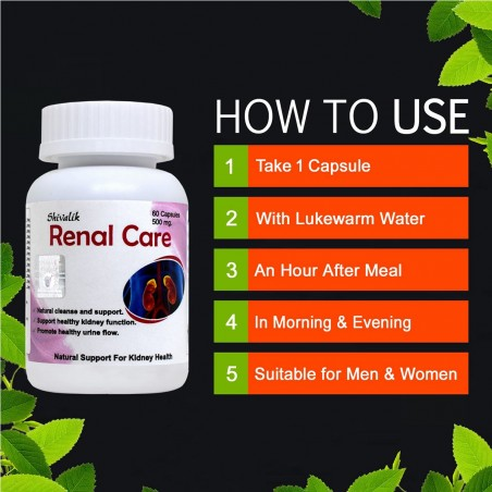 Shivalik Herbals Renal Care 60 Capsules how to use