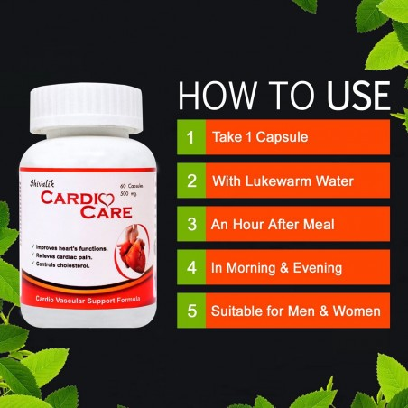 Shivalik Herbals Cardio Care 60 Capsules how to use
