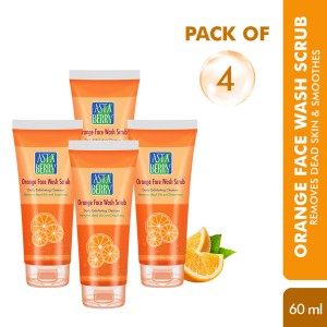 Astaberry Orange Face Wash Scrub 60ml (Pack of 2)