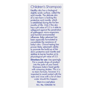 Sebamed Children Shampoo side 2