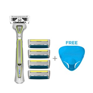 LetsShave Pro 6 Plus Value Kit (Handle + 4 Blades + Razor Cap)