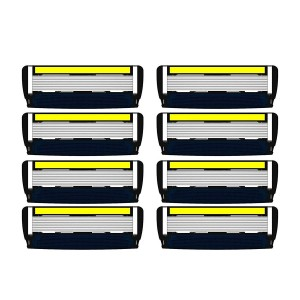 LetsShave Pro 6 Advance Replacement Cartridges - Pack of 8 Blades
