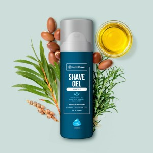 LetsShave Sensitive Shave Gel for Men - 200 ml