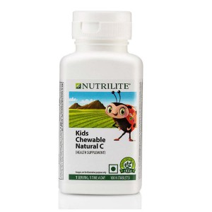 Amway Nutrilite Kids Chewable Natural C 100 tablets pack