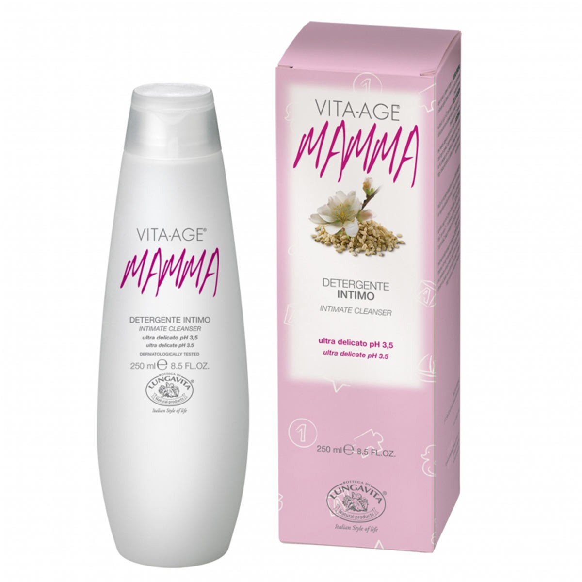 Bottega Di Lungavita Mamma Intimate Cleanser Extremely Delicate Cleanser Enriched With The Plant Extracts