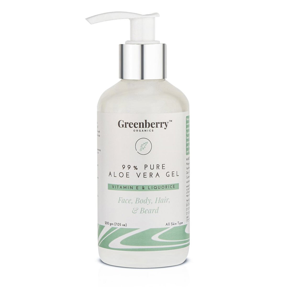 Greenberry Organics 99% Pure Aloe Vera Gel